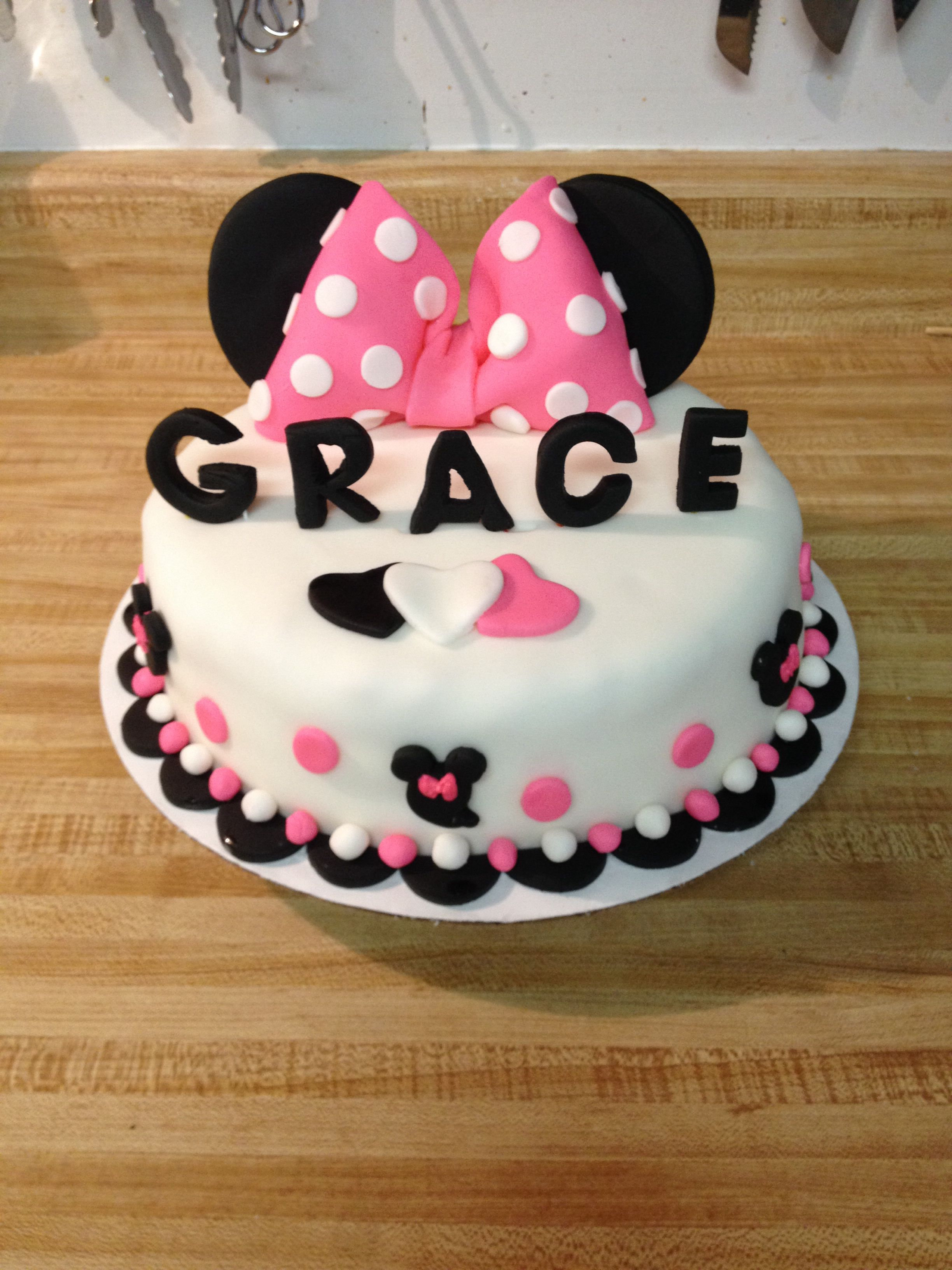 My 1 Tier Minnie Mouse Cake Minnie Mouse Cake Mouse Cake Cake