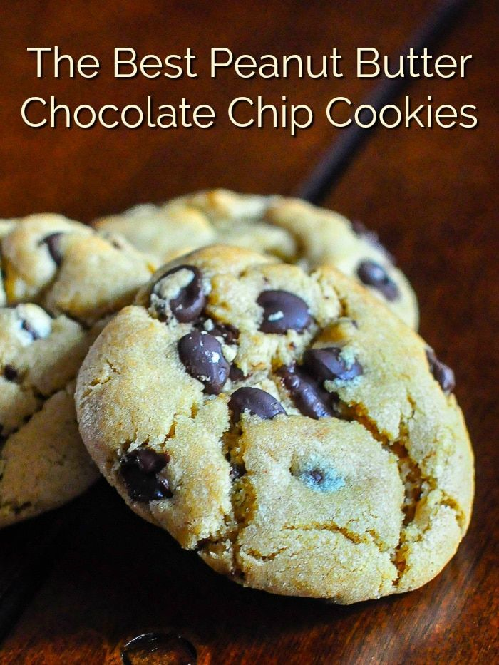 Peanut Butter Chocolate Chip Cookies Peanut Butter Chocolate Chip Cookies. A perfect marriage of peanut butter and chocolate in a soft chewy ultimately delicious cookie.#cookies