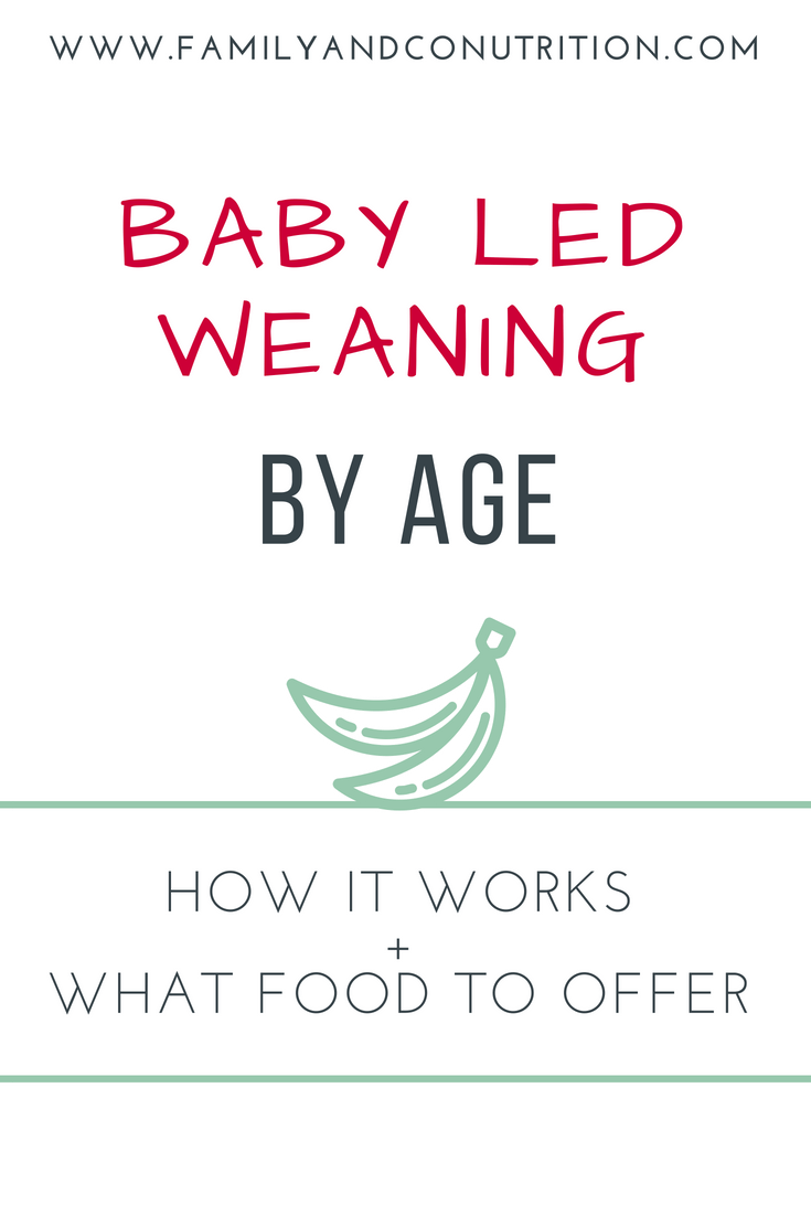 Baby Led Weaning by Age: How it Works and What Foods to Offer -  Baby led weanin...