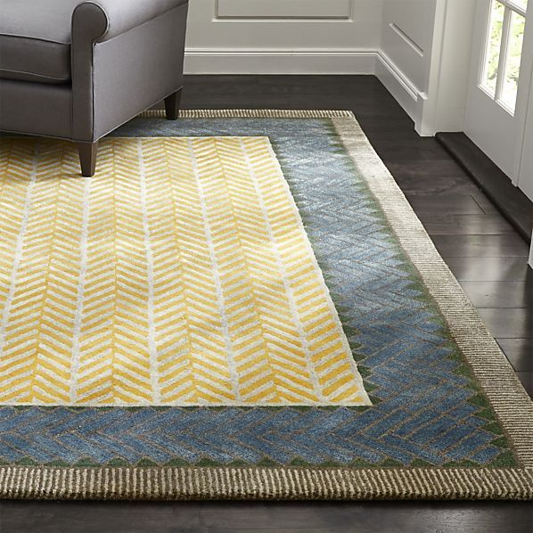 Piven Chevron Wool Blend Rug Crate And Barrel