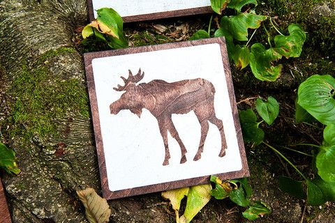 Moose Silhouette // Reclaimed Print Co