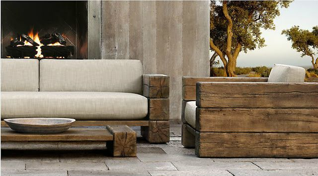 Emejing Modern Rustic Outdoor Furniture Pictures   Fenamp co. Reclaimed Wood Outdoor Furniture   WB Designs