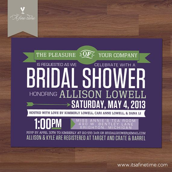 Bridal Shower Invitation  Retro Contemporary  Modern Poster