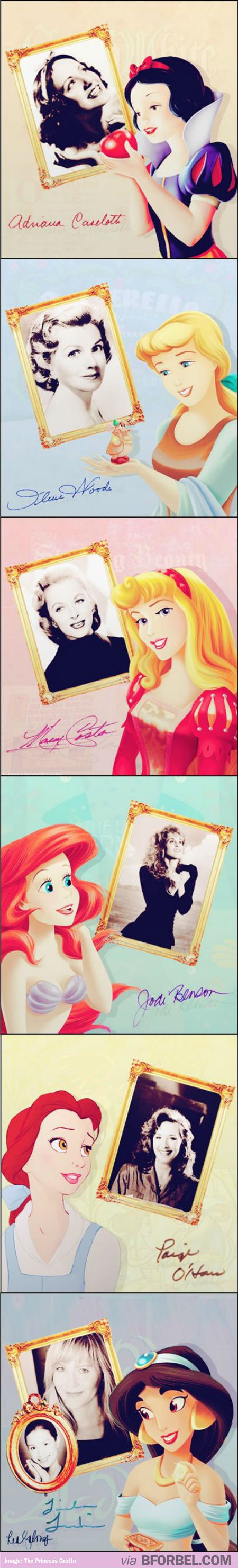 Disney Princesses And Their Voice Actors…