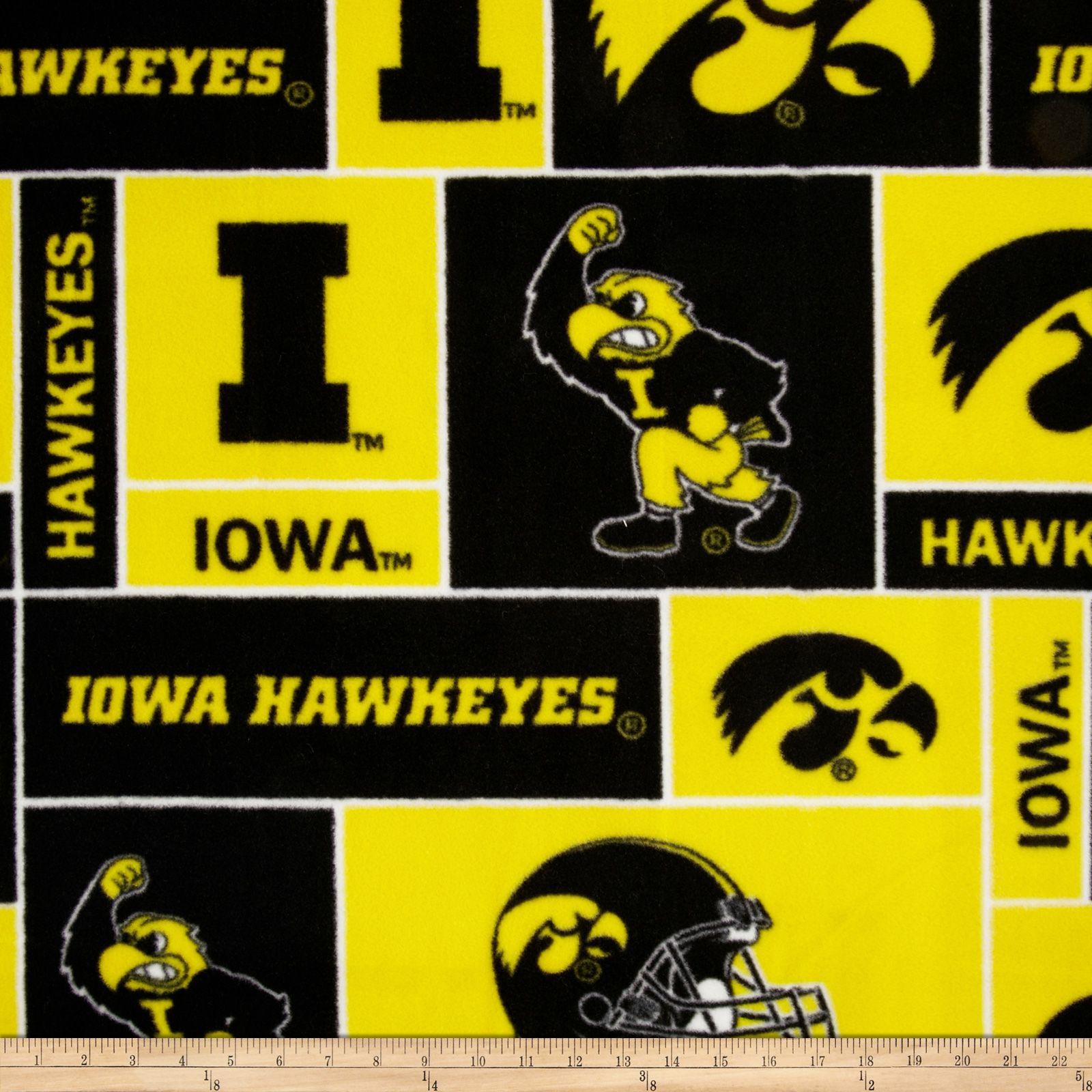 Collegiate Fleece University Of Iowa Gold Fabric By The Yard