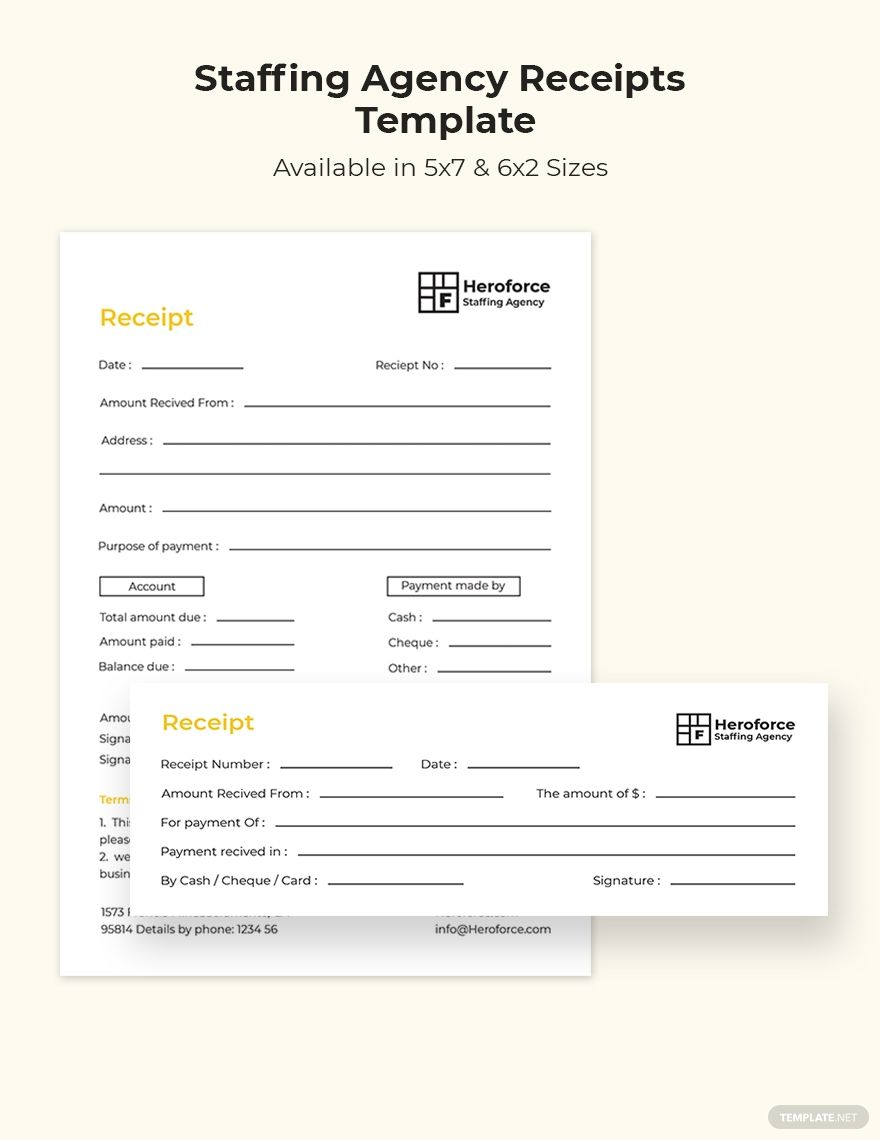 Staffing Agency Receipt Template Free Pdf Word Psd Indesign Apple Pages Illustrator Publisher Staffing Agency Receipt Template Invoice Format In Excel