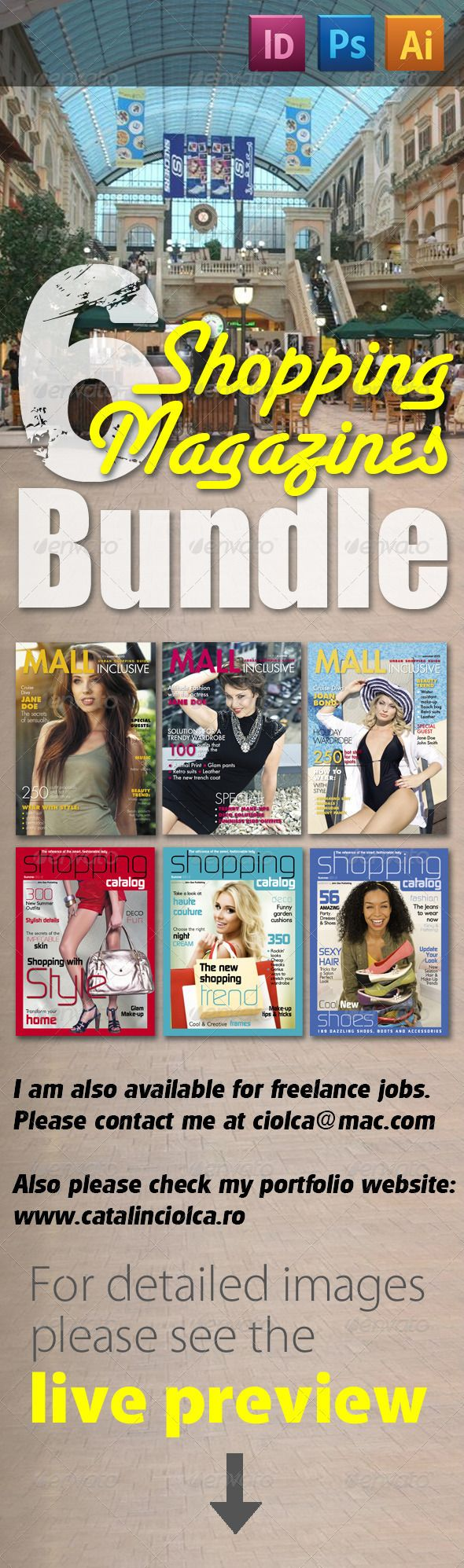6 Shopping Magazines Bundle — Photoshop PSD #custom publishing #custom publishing template • Available here → https://graphicriver.net/item/6-shopping-magazines-bundle/2348328?ref=pxcr
