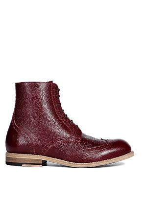MARC JACOBS  Oxblood lace up brogue boots
