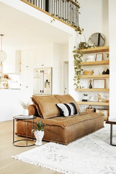 Brio Leather Chair & Half – Cognac