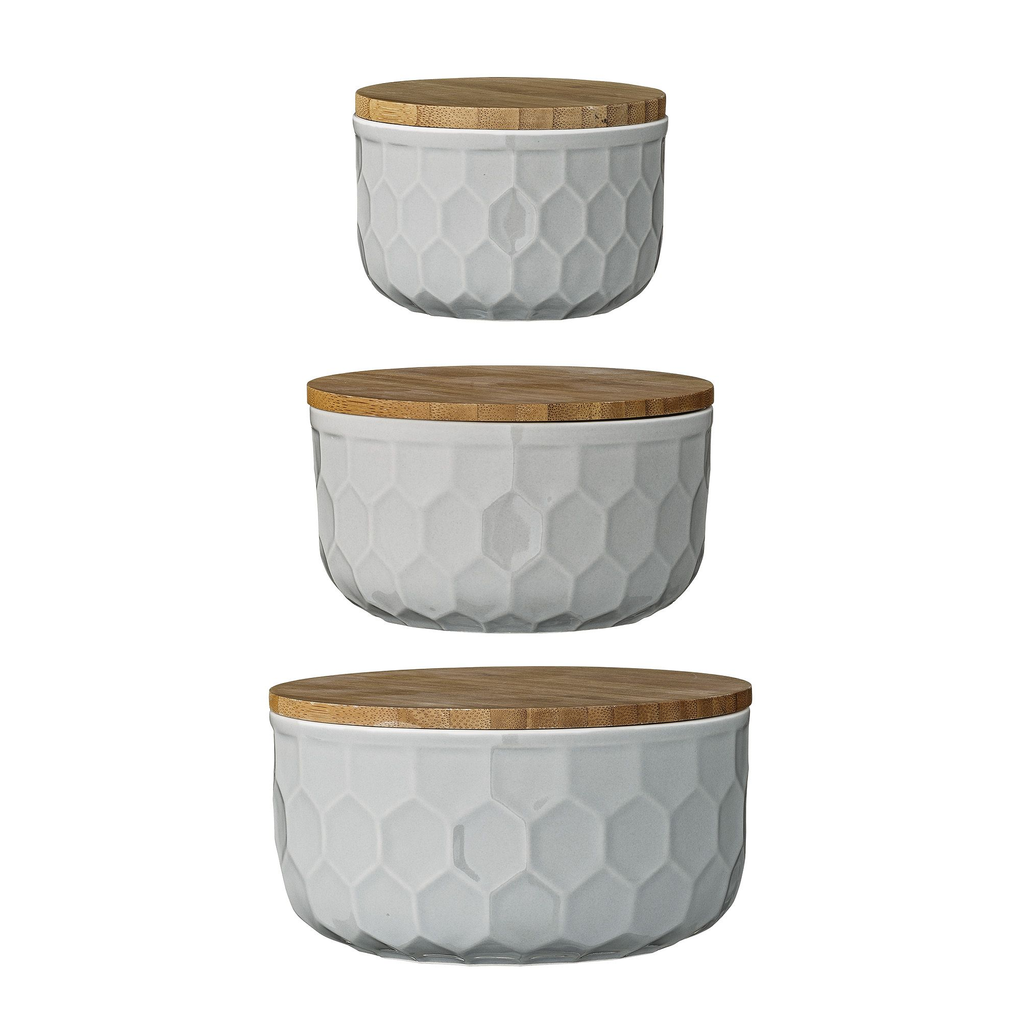 Bloomingville bowls with bamboo lid