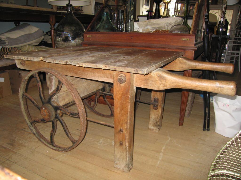 Vintage French Flower Cart on Cast Iron Wheels | Garden | Pinterest ...