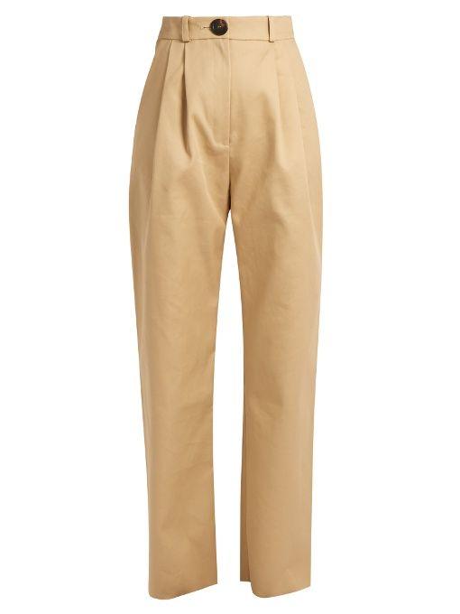 A.W.A.K.E. High-rise cotton chino trousers