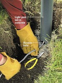 Outstanding Running Underground Wiring To Lamp Post Light To Be Turned On With Wiring 101 Tzicihahutechinfo