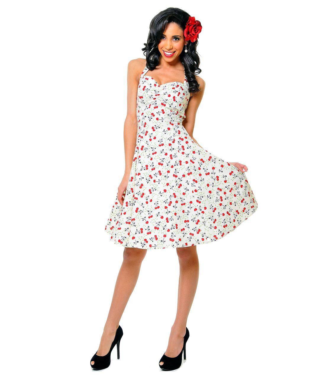 1950\'s Style Heartbreaker Cerise Sweetie Dress - Unique Vintage ...
