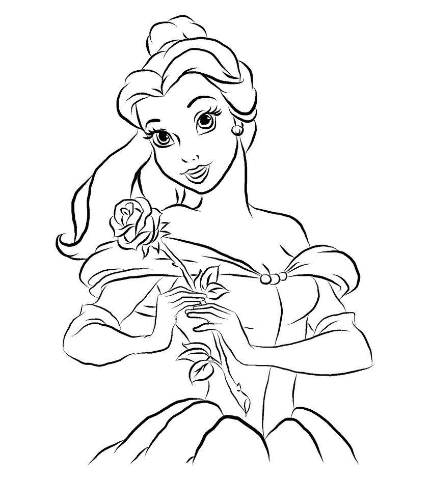 - Belle___outline_by_pinkiepiedare-d4l8did.jpg (846×945) Beauty