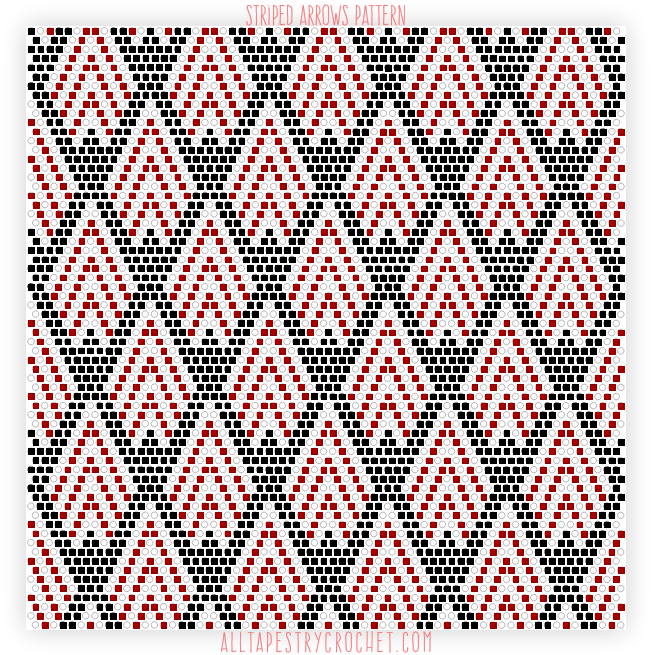 Striped Arrows Pattern Free Tapestry Crochet Pattern From Beauteous Tapestry Crochet Patterns Free