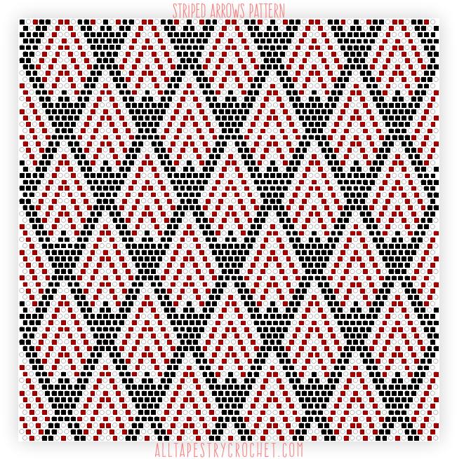 Striped Arrows Pattern Free Tapestry Crochet Pattern From Beauteous Tapestry Crochet Patterns Free
