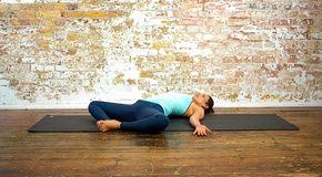reclining bound angle pose  yoga poses  yoga  yoga