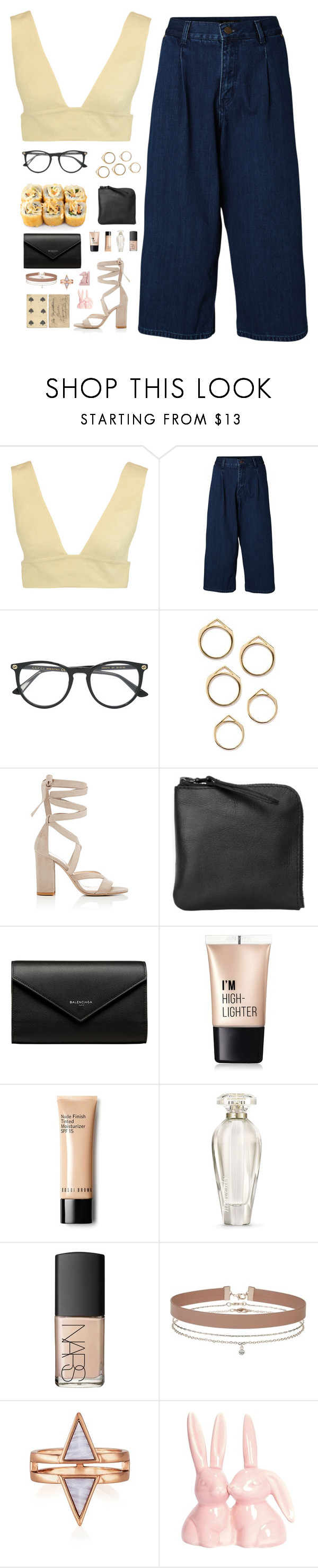 """C R O P P E D  H E A R T S /: elf"" by polyvoregallery ❤ liked on Polyvore featuring Valentino, SELECTED, Gucci, Barneys New York, Xenab Lone, Balenciaga, Charlotte Russe, Victoria's Secret, NARS Cosmetics and Miss Selfridge"
