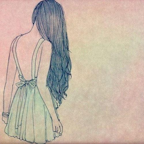 resultado de imagen para chicas de espalda dibujos