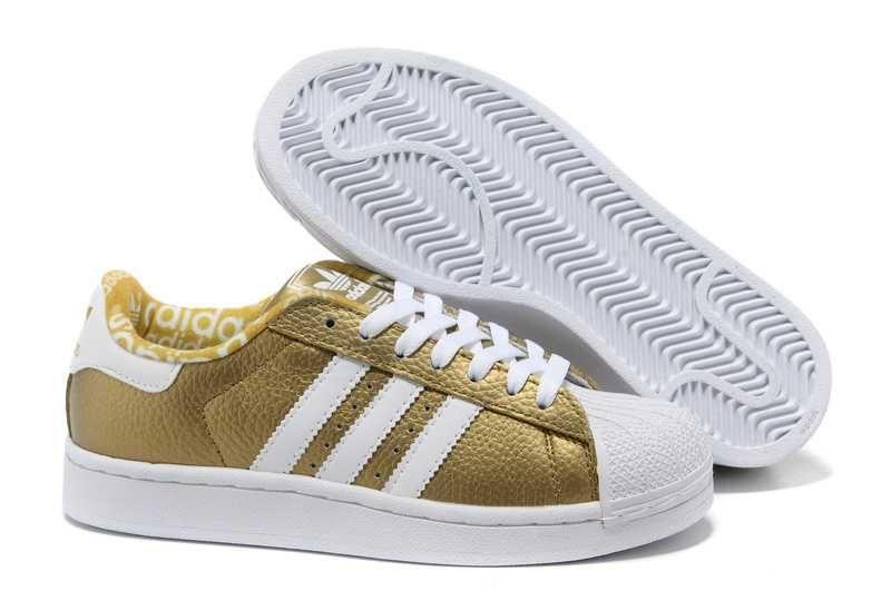 Domnul Adidas România Superstar II din piele de aur alb închis de calitate - A172