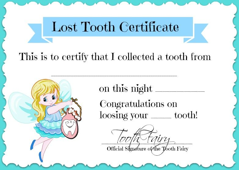 Tooth Fairy Pillow Free Printable Tooth Fairy Certificate Tooth