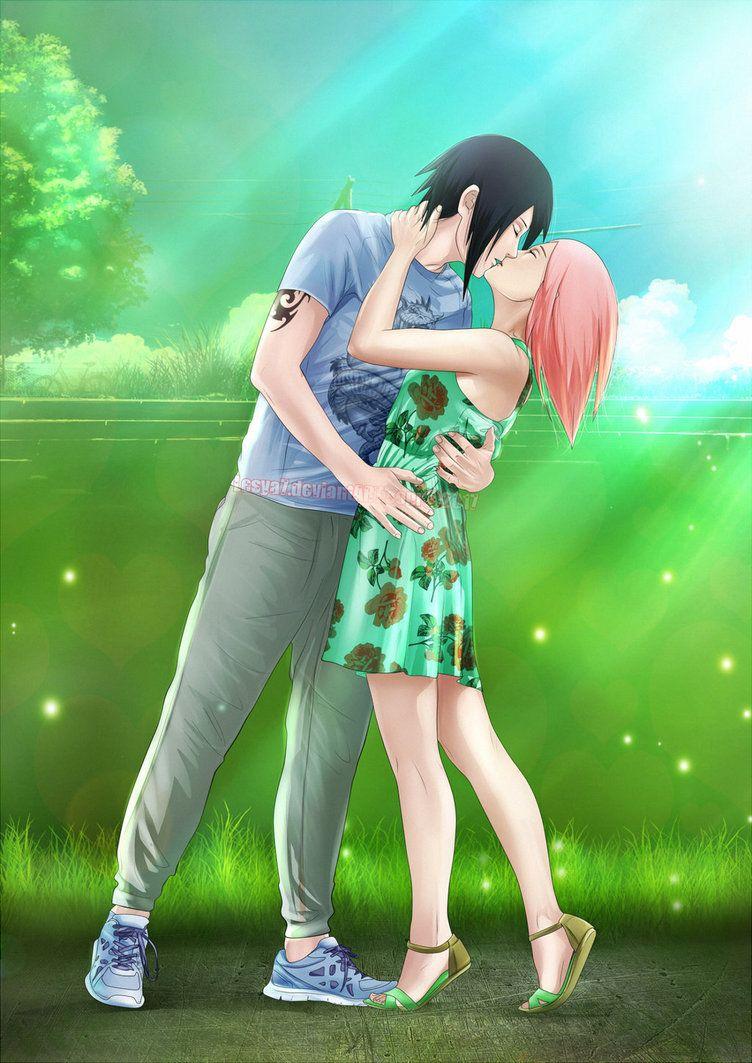 Sasusaku Summer Love By Lesya7 Deviantart Com On Deviantart Sasusaku Sakura And Sasuke Sasuke