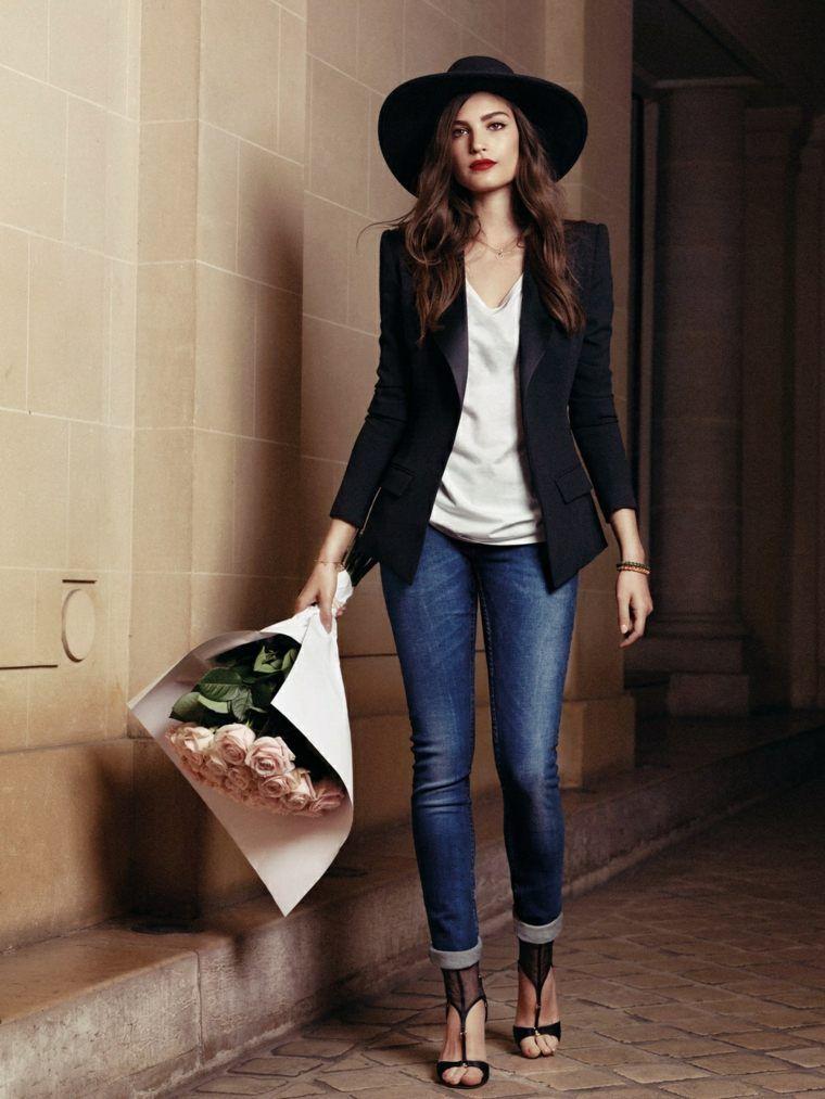 new product f0a0f b0388 blazer pour femme noir et jean slim   comment s habillier