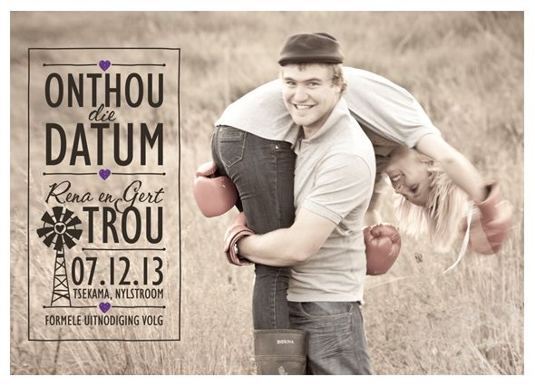 Afrikaans Save The Date Templates  Google Search  Wedding