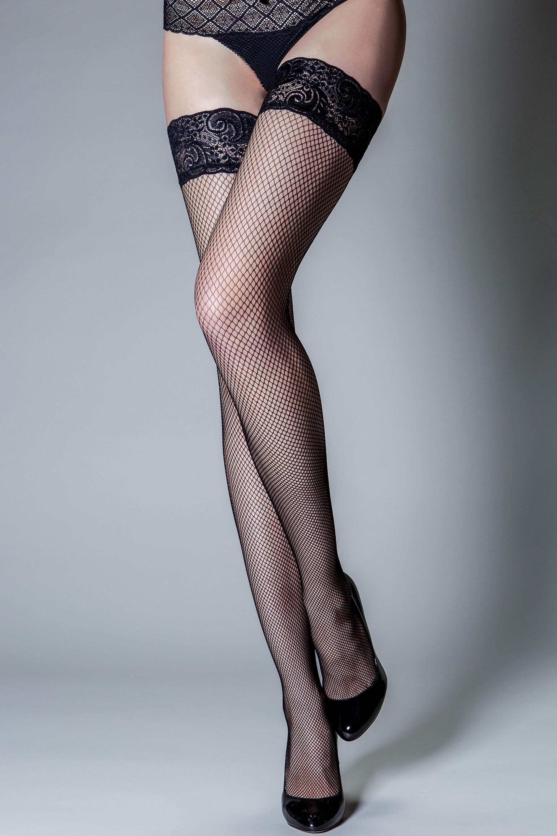 0bd93d47a Womens Pour Moi Tempt - Lace Top 15 Denier Fishnet Hold Up - Black ...