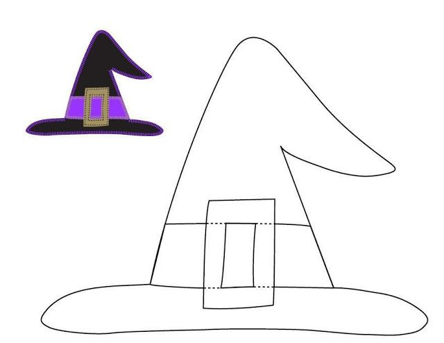 paper witch hat template - free halloween applique witch hat template by izzy ivy