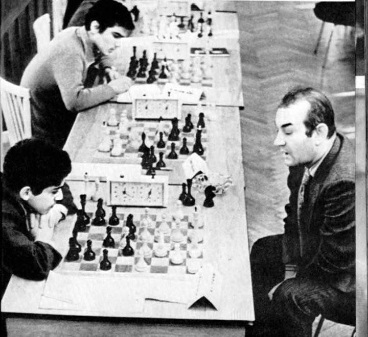 Garry Kasparov vs. Korchnoi.