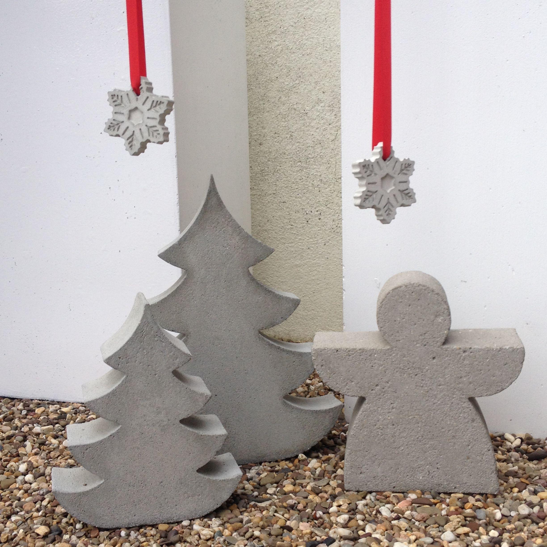beton weihnachten diy beton weihnachtsbasteln diy. Black Bedroom Furniture Sets. Home Design Ideas