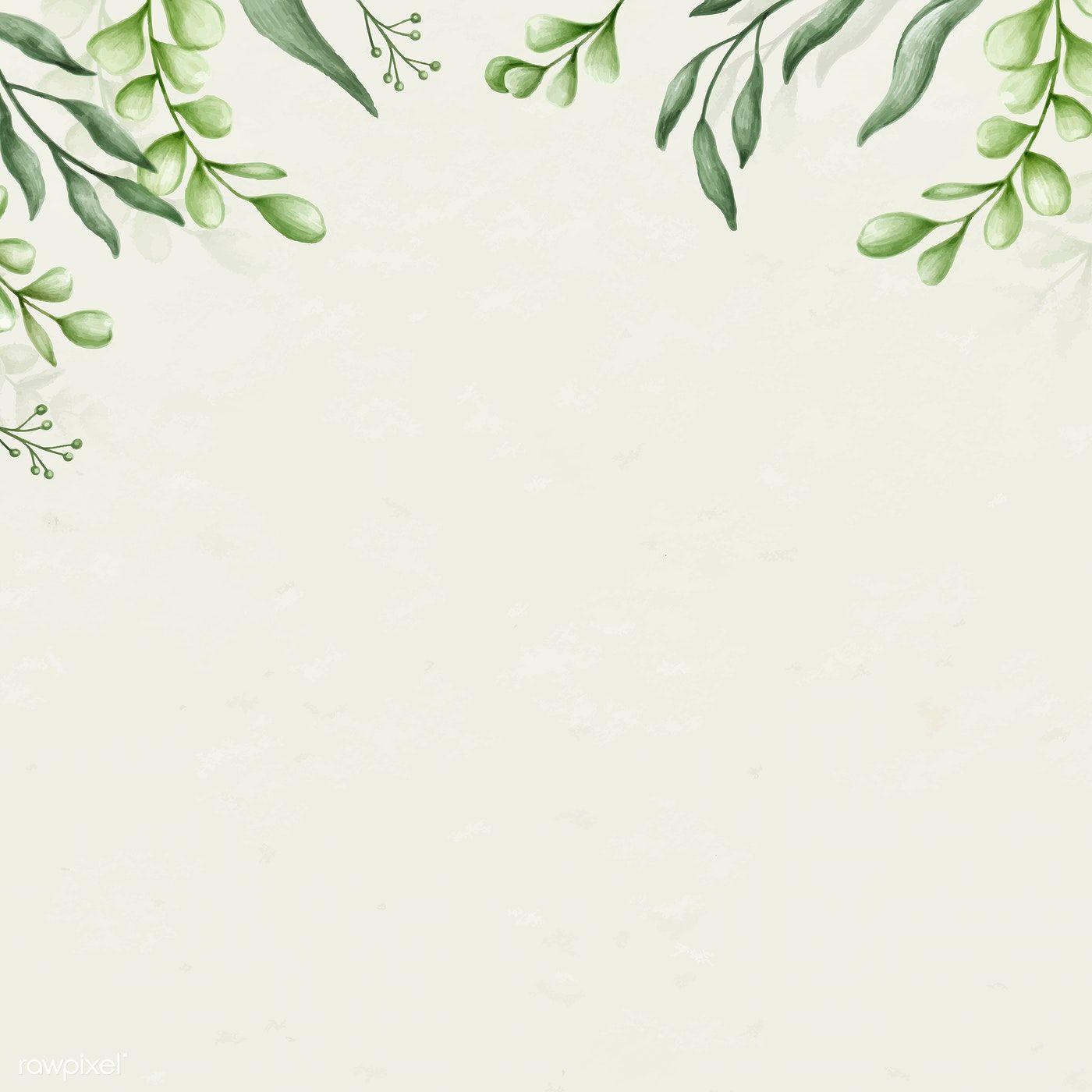 Download Premium Vector Of Green Leaves Background Decoration