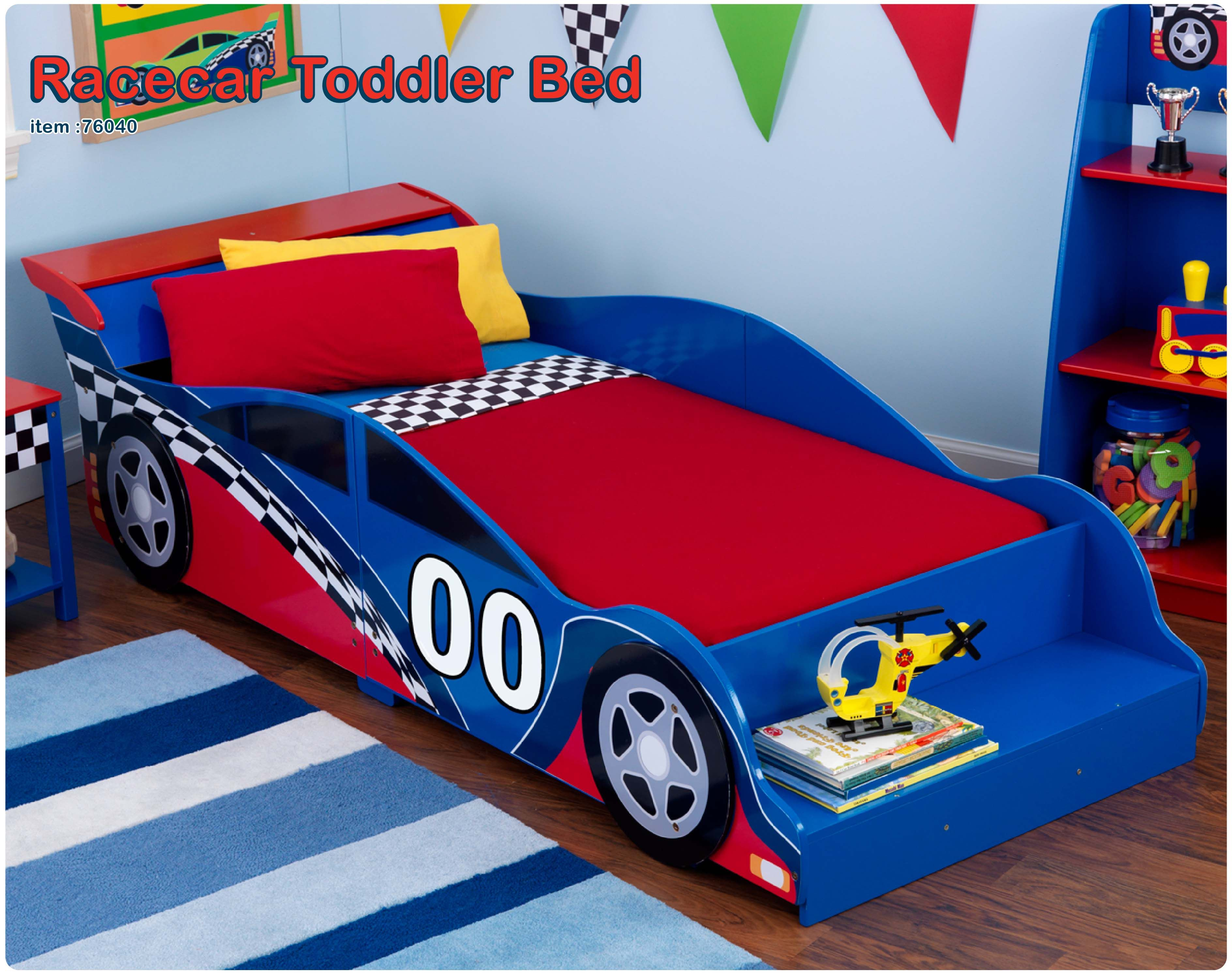 KidKraft Race Car Toddler Bed/Set that I bought for my grandson ...