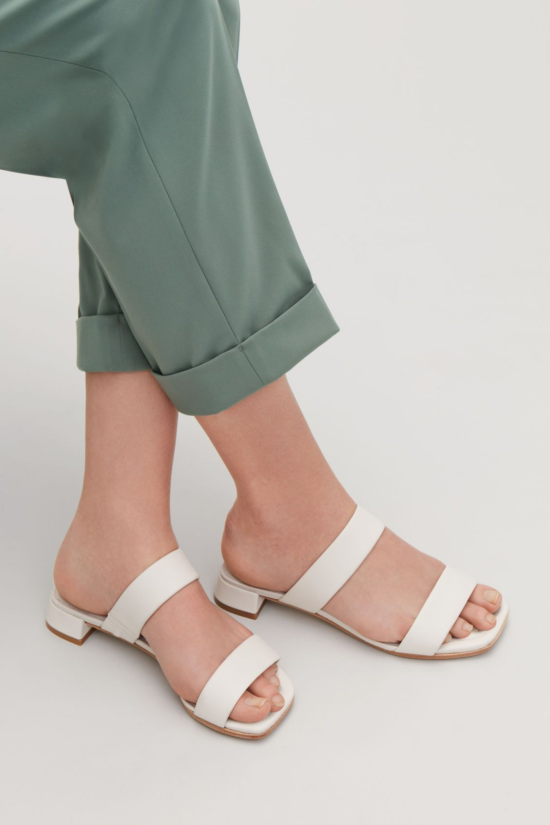 f76b62da5f3b2 Detailed image of Cos two-strap leather sandals in neutral