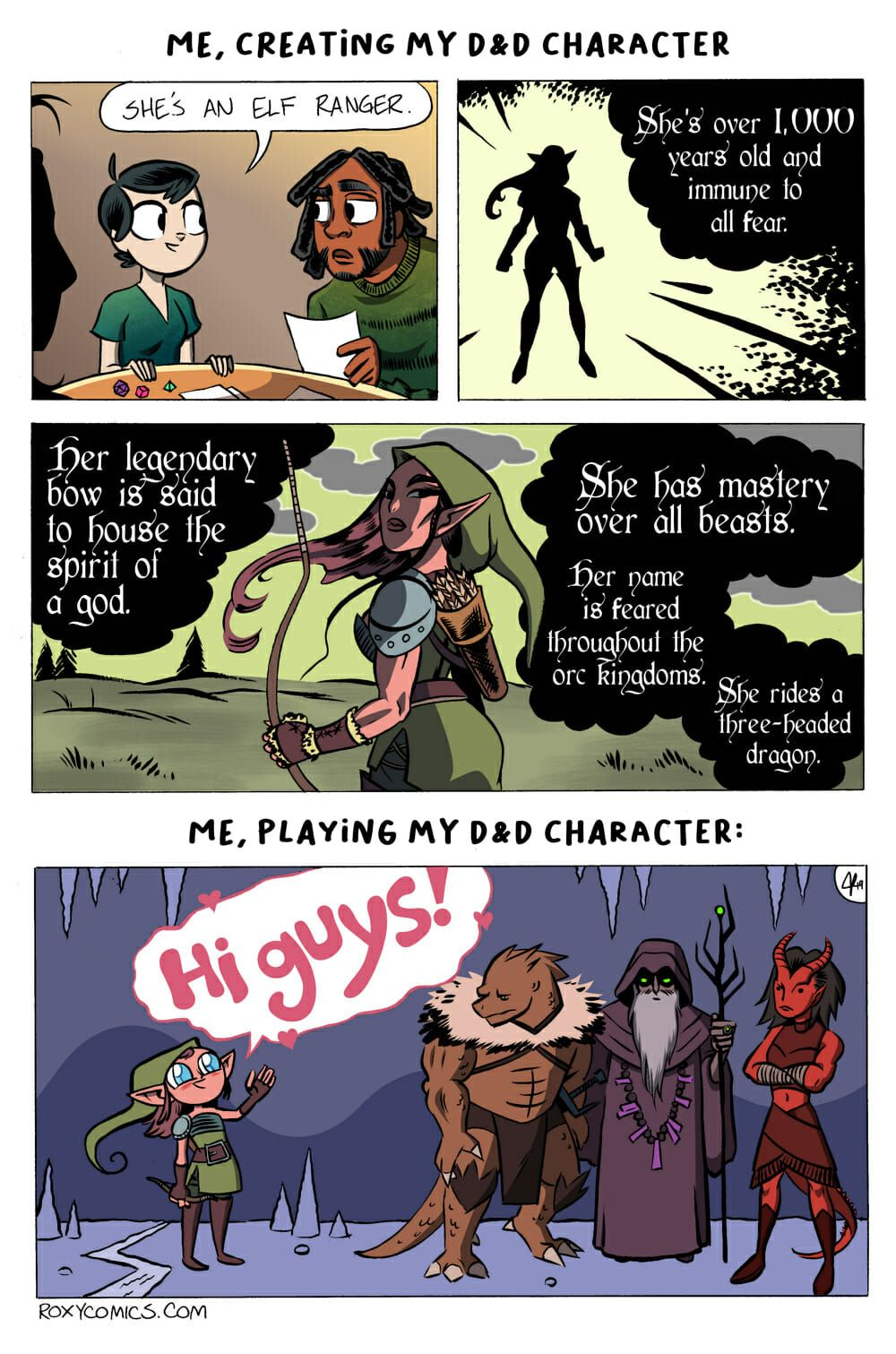 Roxy Comics Me Creating My D D Character Dragon Memes Dnd Funny Dungeons And Dragons Memes