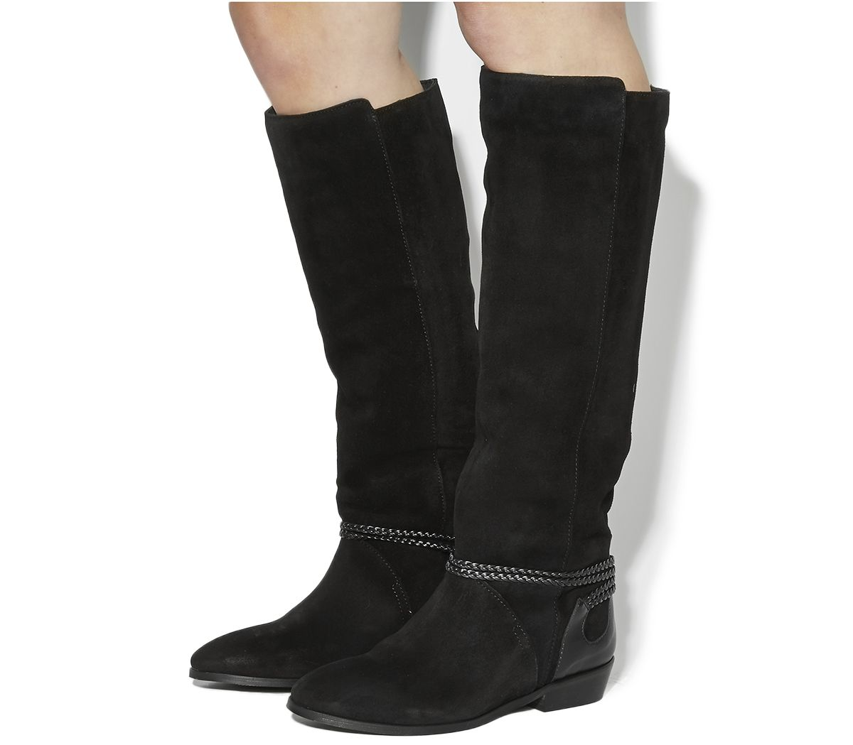 Office Escape Slouch Boots Black Suede Knee Wish List