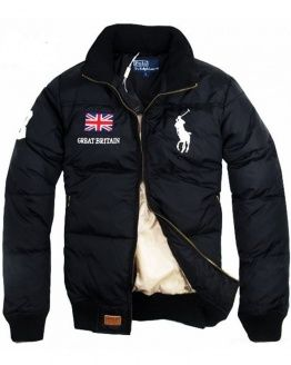 POLO RALPH LAUREN Down Jacket Black Great Britain   polo shirt ... ff1590b79bf4