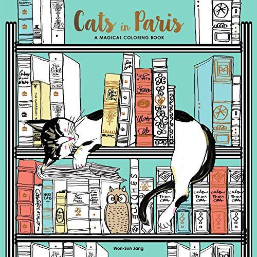 Cats In Paris Adult Coloring Book A Magical Target