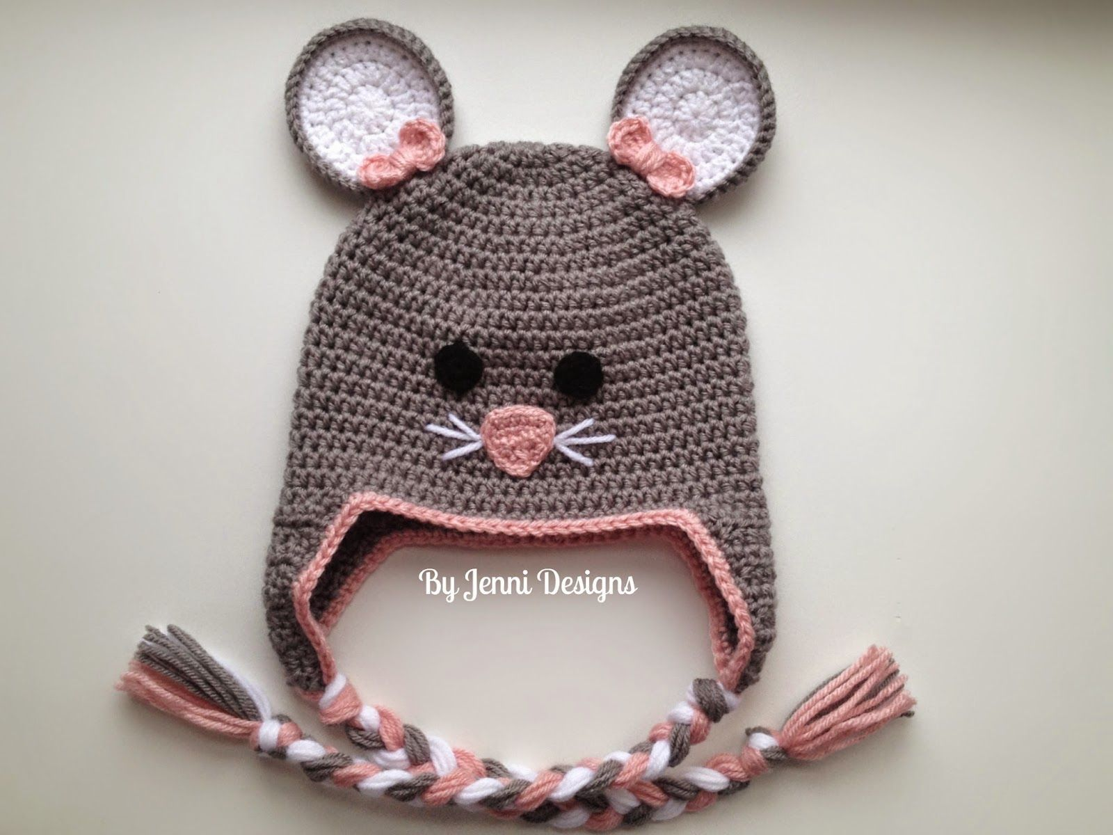 By Jenni Designs: Free Crochet Pattern: Toddler Mouse Hat | Hekel ...