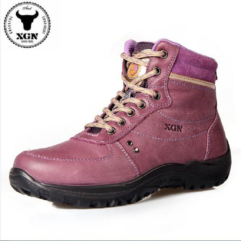 75953e400f5 XGN Brand Outdoor Walking High Shoes Women Waterproof Breathable Non-slip  Wearable Climbing Shoe Winter