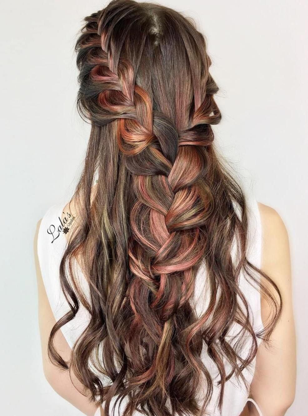 Two Braids Into One Half Up Hairstyle Updospromhairstyles Braids For Long Hair Cool Braid Hairstyles Long Hair Styles