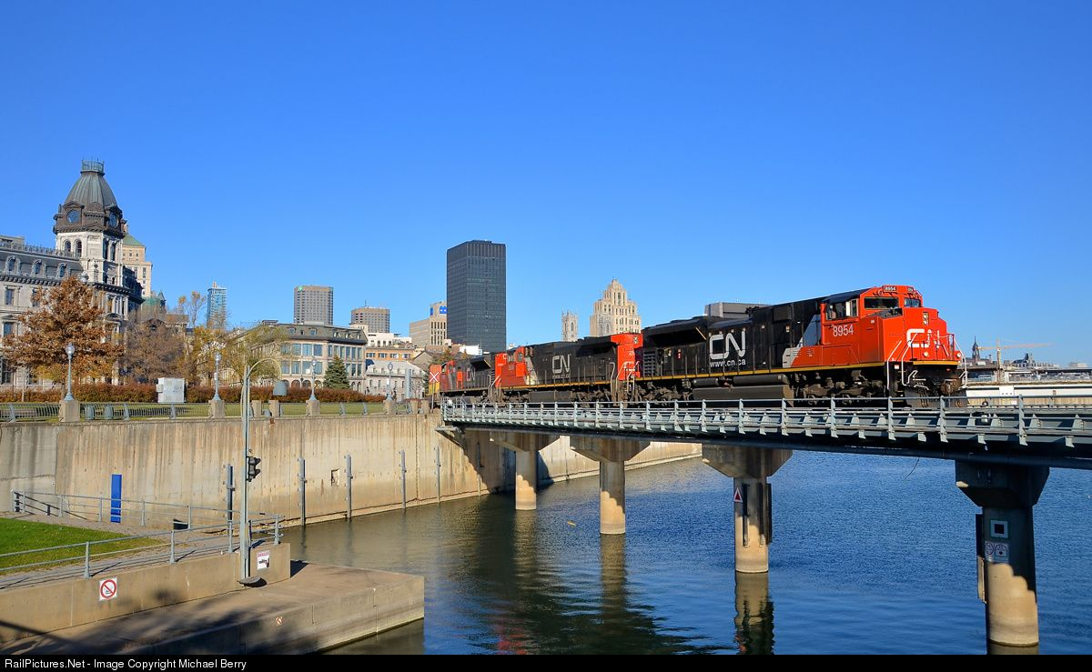 RailPictures.Net Photo: CN 8954 Canadian National Railway EMD SD70M-2 at Montreal, Quebec, Canada by Michael Berry