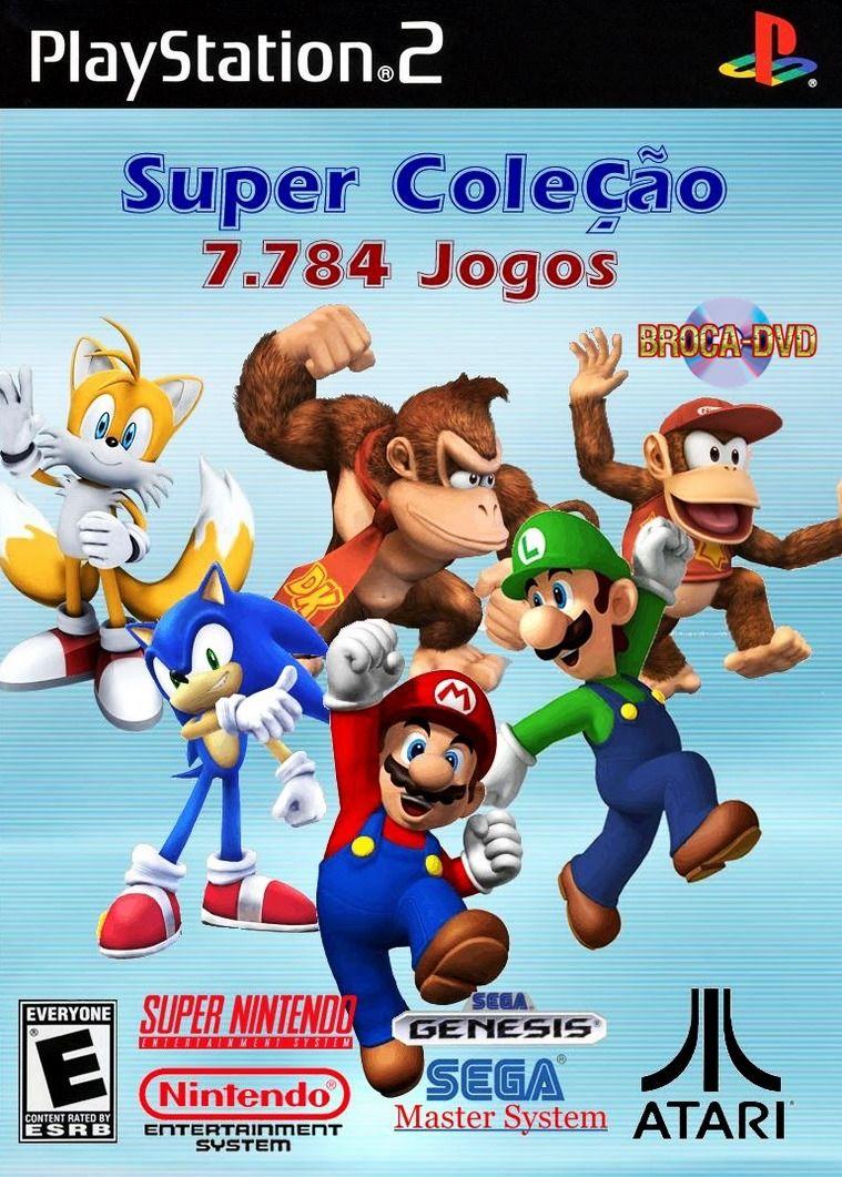Capa Play 2 Super Colecao 7 784 Jogos Jogos De Playstation
