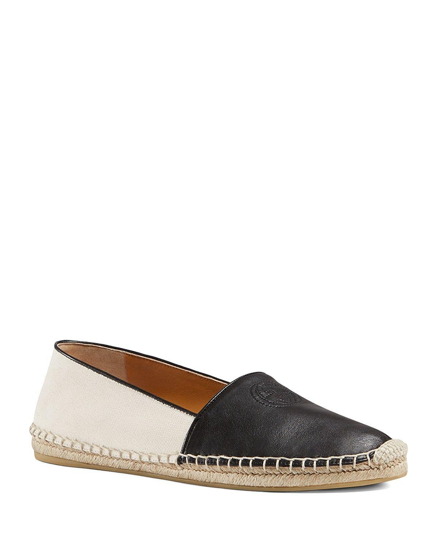 6009065da13 Gucci Espadrille Flats - Pilar Canvas Slip On Loafer ...