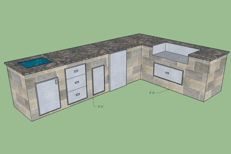 Outdoor Kitchen Planning Design Service Free 3d Sketch Bbqguys Outdoor Kitchen Plans Outdoor Kitchen Kitchen Design Plans