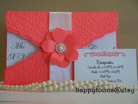 Quinceañera Sweet Sixteen Invitation Babyshower By