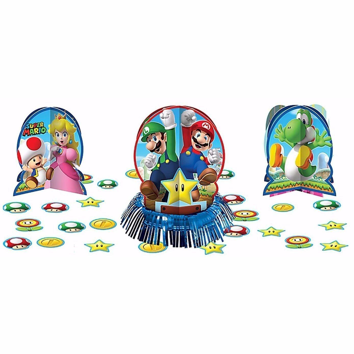 Super Mario Brothers Table Decoration Kit Centerpiece & Confetti ...