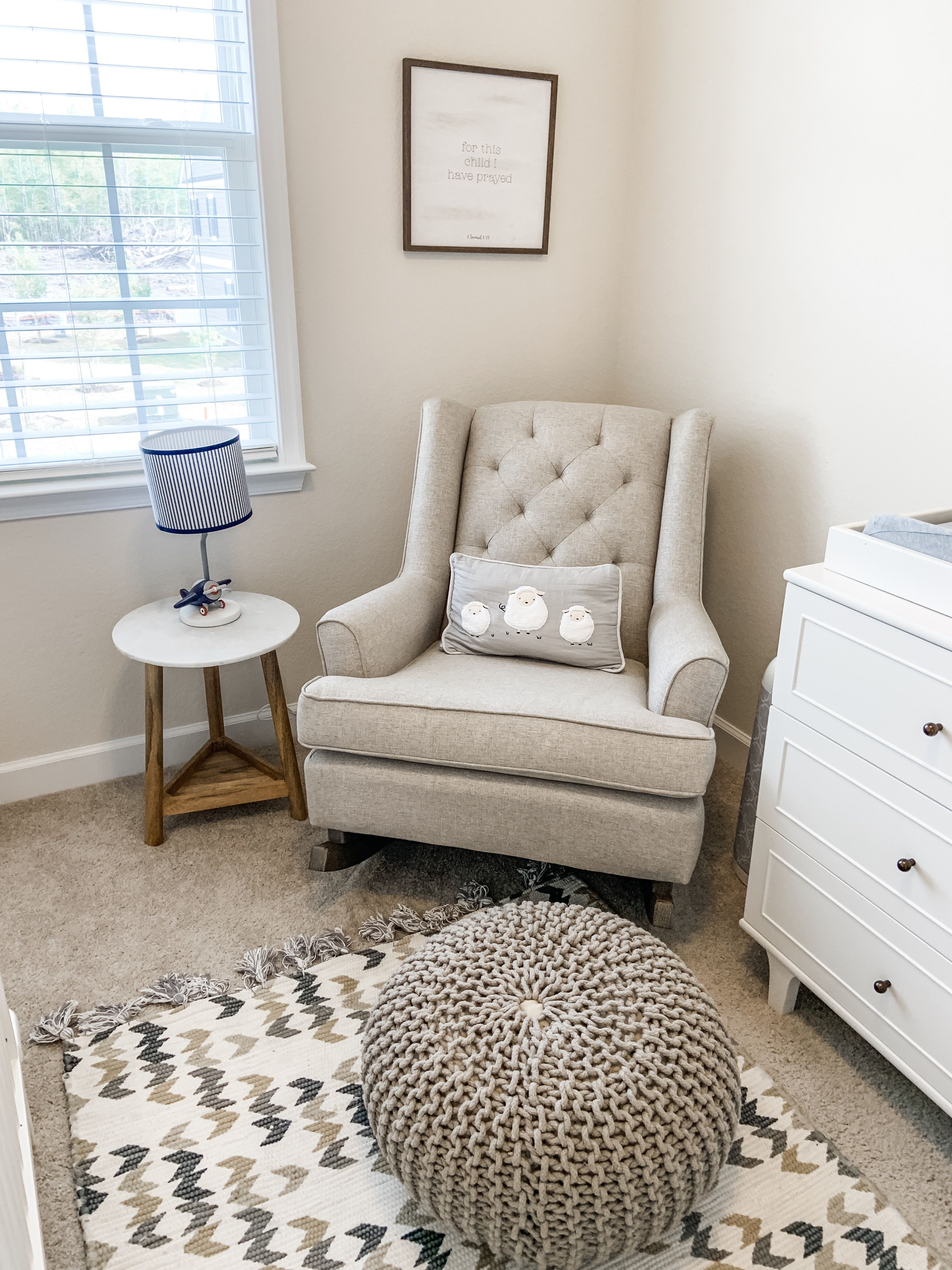 Awesome White And Tan Neutral Nursery Gray Rocking Chair Lamb Machost Co Dining Chair Design Ideas Machostcouk
